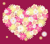 Heart from flowers. — Stock Vector