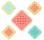 Set of patchwork rhombuses. — Stock Vector