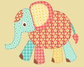 éléphant de l'application. — Vecteur