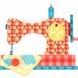 Sewing machine on white. — Stock Vector