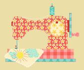 缝纫机 — 图库矢量图片