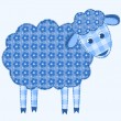 Application sheep. — Stock Vector