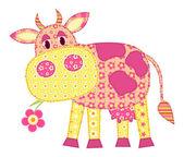 Application cow. — Stock Vector