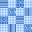 Stock Vector: Seamless patchwork pattern blue.
