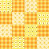 Nahtlose patchwork muster orange. — Stockvektor