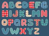 Yorgan alfabesi. — Stok Vektör