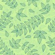 Green leaves seamless pattern. — Stock Vector