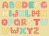 Patchwork vintage alphabet. — Vecteur