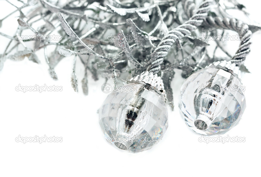 Hryustalnye balls on white background  Stock Photo #10217407