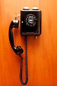 Phone hangs on a wall, — Stock Photo