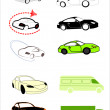 Car contour — Vector de stock #9127357