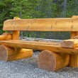 Cute bench in Yoho National Park, Canada — Stock Photo