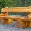 Stock Photo: Cute bench in Yoho National Park, Canada