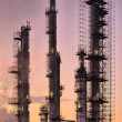 Stock Photo: Industrial refinery, early morning