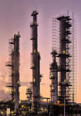 Industrial refinery, early morning — Stock Photo
