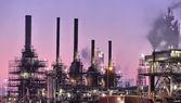 Industrial night scene — Stock Photo