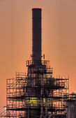 Industrial chimney, early morning — Stock Photo