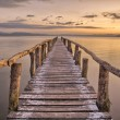 Stock Photo: Landing Stage after sunset