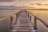 Landing Stage after sunset — Stock Photo