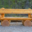 Cute bench in Yoho National Park, Canada. — Stock Photo