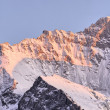 Stock Photo: Jungfrau shoulder in twilight