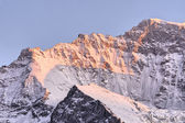 Jungfrau shoulder in twilight — Stock Photo