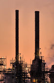 Industry Chimneys, Botlek. — Stock Photo