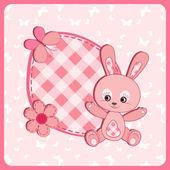 Bebek ulaşım kartı. tavşan. — Stok Vektör