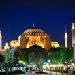Hagia Sophia at night - 图库照片