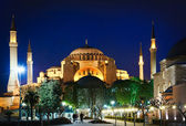 Hagia Sophia at night — Stok fotoğraf