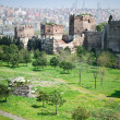 Ancient walls of Constantinople - Stock Photo