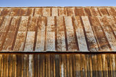 Rusty barn roof — Stock Photo