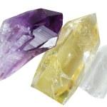 mineraller kuvars Ametist — Stok fotoğraf