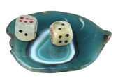 Game cubes to a support from agate — Stock Photo