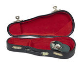Music Case with Hat Full of Money — Stok fotoğraf