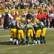 Stock Photo: Green Bay Packers Huddling