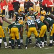Green Bay Packers Huddling - Foto Stock