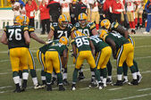 Green Bay Packers Huddling — Stock Photo