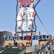 Minnesota Twins Sign at Target Field — Stockfoto