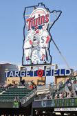 Minnesota Twins Sign at Target Field — Stock Photo