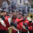 Stock Photo: Richfield High School Marching Band Performing in Parade