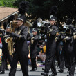 WaconiHigh School Marching Band Performing in Parade — Stock Photo #8388365