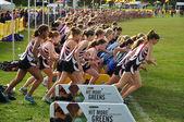 Minnesota High School Girls Start the Roy Griak Invitational Cross Country — Stock Photo