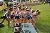 Minnesota High School Girls Perpare to Start the Roy Griak Invitational Cro — Stock Photo