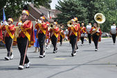 Henry Sibley High School Marching Band Performing in a Parade — Stock Photo