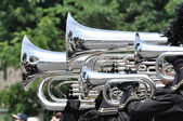 Waconia High School Marching Band Performing in a Parade — Stock Photo