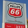 Phillips 66 Gas Station Sign - Stock Photo