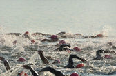 Women Competing in Open Water Swim Race — Stock Photo