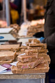 Fudge at a market. — Stock Photo