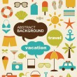 Vector illustration of design elements related to travel and vacation. — Stock Vector